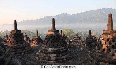 Borobudur temple sunrise