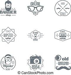 borodach, 標識語, 集合, 簡單, 風格