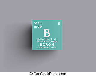 Boron element periodic table isolated on white background 3d render boron metalloids chemical element of mendeleevs periodic table urtaz Image collections