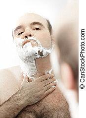borotválkozás, bábu arc