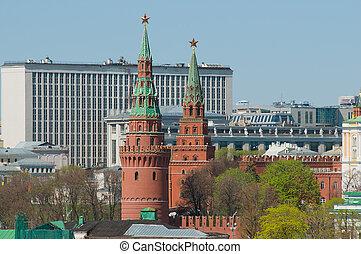 Borovitskaya and Vodovzvodnaya towers of the Moscow Kremlin