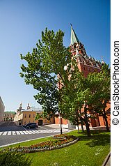 Borovitskaya tower in the Moscow Kremlin