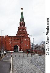 Borovitskaya Tower of the Moscow Kremlin