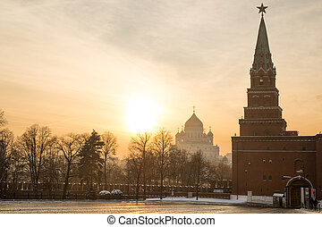 Kremlin and Christ the Savior cathedral