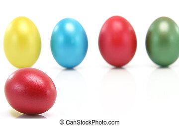 borrão, ovos, fundo