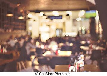 borrão, restaurante, -, vindima, efeito, estilo, quadro