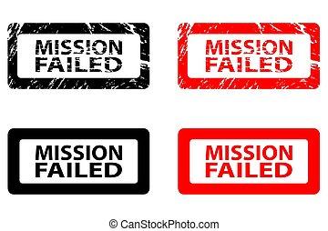borracha, falhado, -, missão, selo