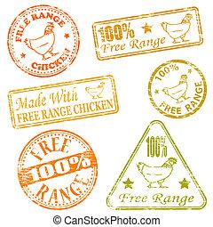 borracha, gama, selos, livre