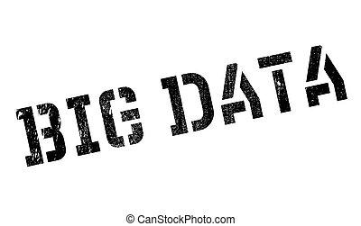 borracha, grande, dados, selo