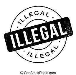 borracha, ilegal, selo