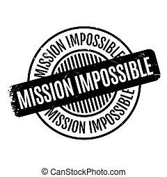 borracha, impossível, missão, selo