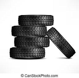 borracha, pneus