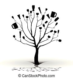 borracho, tree-silhouette