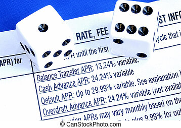 Borrow money from a credit card is like gambling isolated on blue
