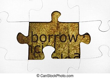 Borrow puzzle concept