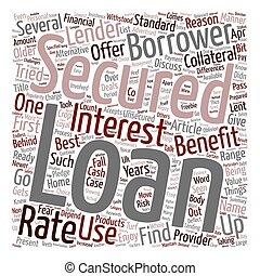 borrowers, 概念, 利益, テキスト, 安全に保たれた, wordcloud, freebie, 背景, ローン, 来る