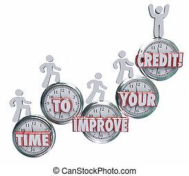 borrowers, 評価, タイムレコーダー, クレジット, スコア, 上昇, よりよい, あなたの, 改良しなさい