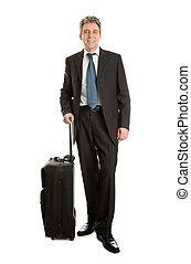 borsa, anziano, uomini affari, viaggiare
