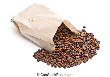 borsa, caffè, carta, fagioli