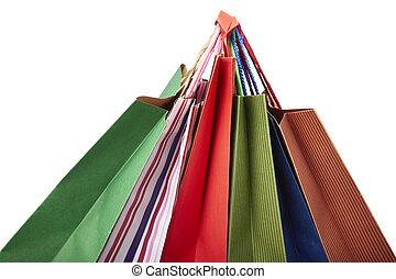 borsa, consumismo, vendita dettaglio fa spese