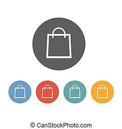 borsa, icon., shopping