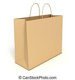 borsa, isolato, shopping