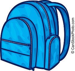borsa, pacco, (backpack, scuola, bag)