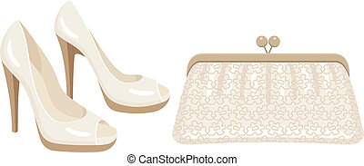 borsa, scarpe, femmina