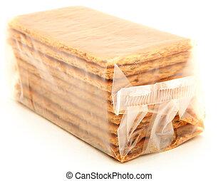 borsa, sopra, bianco, cracker graham