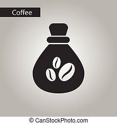 borsa, stile, bianco, caffè nero