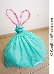 borsa, verde, plastica