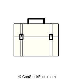 borsa, viaggiare, vettore, disegno, isolato