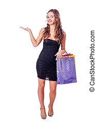 borse, donna, carta, presa a terra