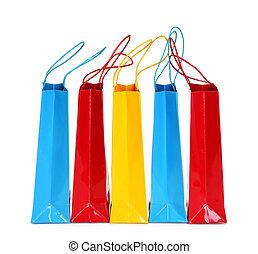 borse, shopping, colorito