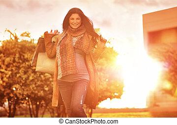borse, shopping donna, incinta