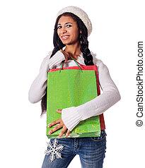 borse, shopping donna, presa a terra
