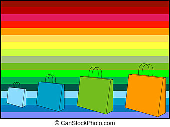 borse, shopping, mio, -, (check, portafoglio, icons!),...