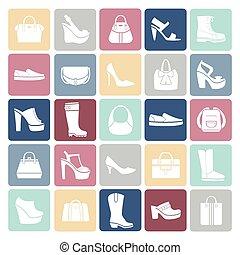 borse, stile, icone, scarpe, appartamento