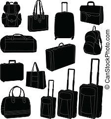 borse, viaggiare, valigie