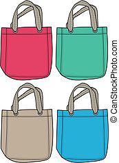 borsetta, moda, illustrazione