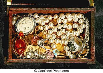 borst, juwelen