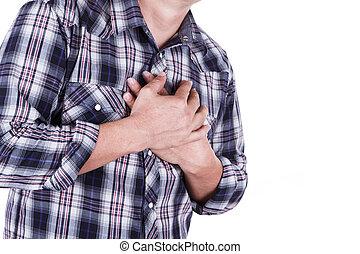 borst, mannen, pijn