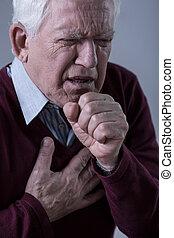 borst pijn, hebben, man