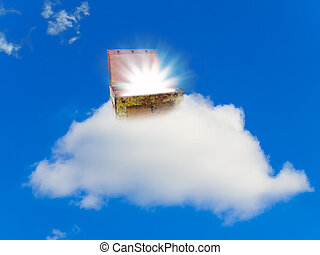borst, schat, wolk
