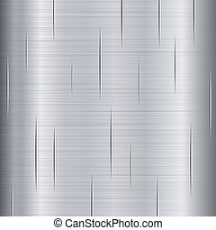 borstade metall, struktur