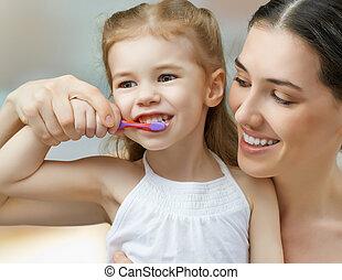 borstelende teeth