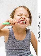 borstning tand