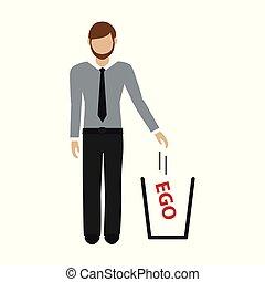 bort, ego, lyror, affärsman