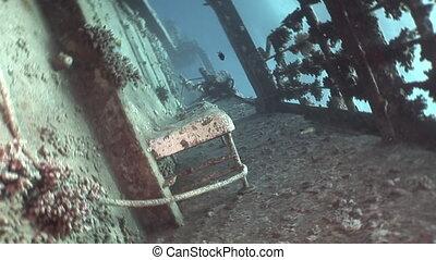 Bort of ship Salem Express on seabed wrecks underwater in...