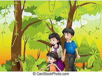 bos, gezin